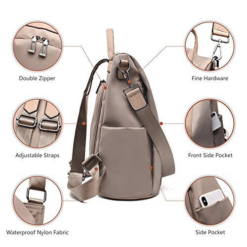 Charmore Women Backpack Purse Waterproof Nylon Schoolbags Anti-theft Rucksack Shoulder Bags by Charmore (Image #5)