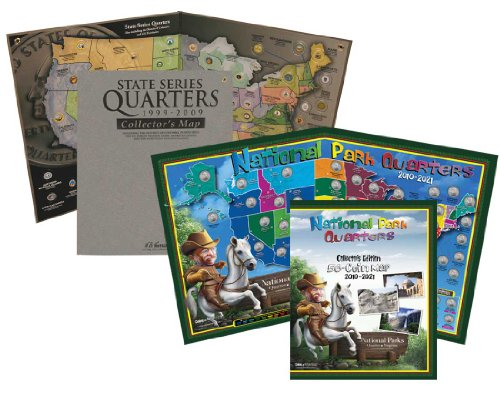 Quarter Map Combo Pack: State and National Parks for Kids -