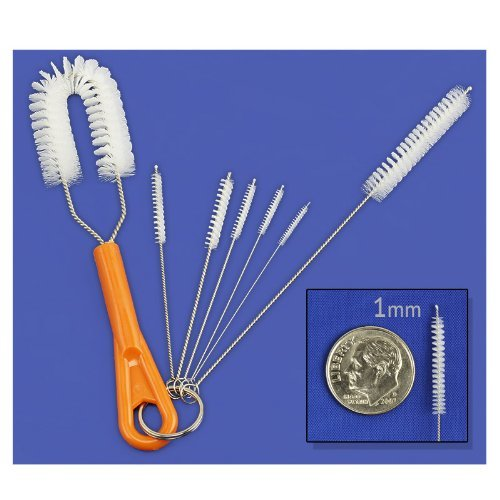 7-Piece Precision Fine Detail Nylon Cleaning Brush Set - 1 t