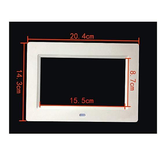Gaowi 9 Pulgadas De Alta Definición Retroiluminación LED Marco De Fotos Digital Álbum Electrónico Música Mp3 Video MP4 Porta Retrato Digital,Black: ...