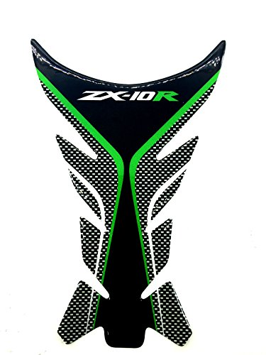 Green Motorcycle Protector Gas Fuel Tank Pad Decal Epoxy Sticker for Kawasaki Ninja ZX10R All ()