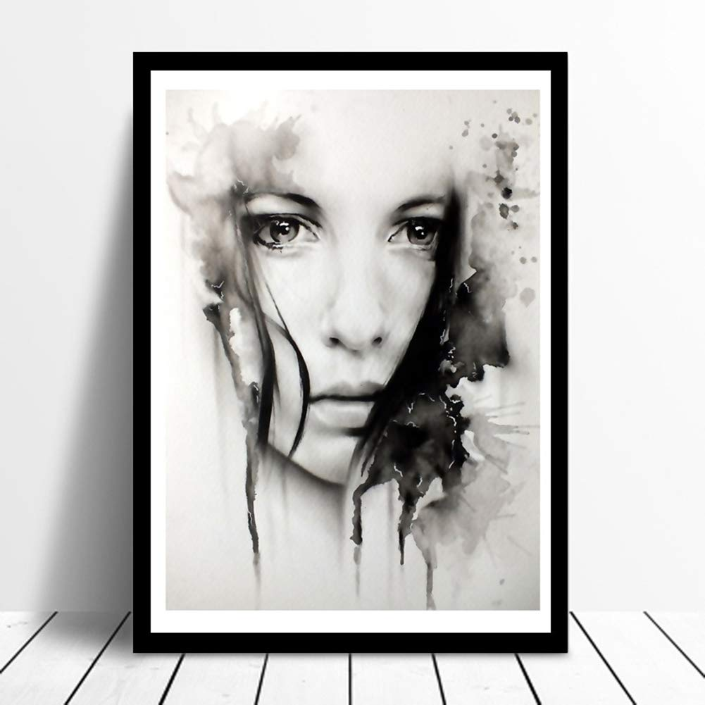 Lx10tqy Nordic Girl Portrait Canvas Painting Wall Art Living Room Bedroom Home Decor 4050cm