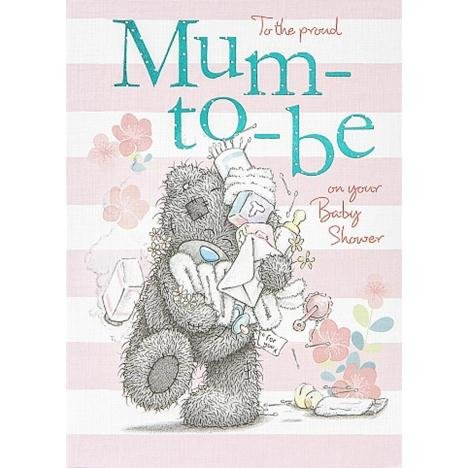 Me To You Tatty Teddy Proud Mum To Be On Your Baby Shower Card 6.75