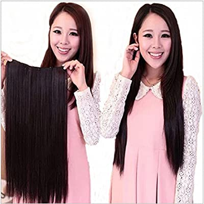 Eastlion New One Piece Sexy Women's High Quality Natural Fashion Straight/Curly/Gradient Curly Hair-Long Beautiful Synthetic Thick Hair Extensions 5clips Clip