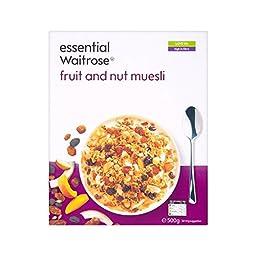 Fruit & Nut Muesli essential Waitrose 500g - Pack of 4