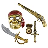 : 5-piece Halloween Pirate Costume - Mask and Accessories