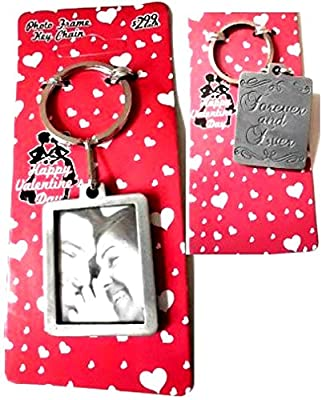 """Distressed """"Forever and Ever"""" Engraving Sweethearts Photo Frame Keychain - Valentine's Day, Wedding, Anniversary """"Forever and Ever"""" Keychain, Friendship Novelty Gift, Mother's Day Gift, Sweet Heart Keychain"""