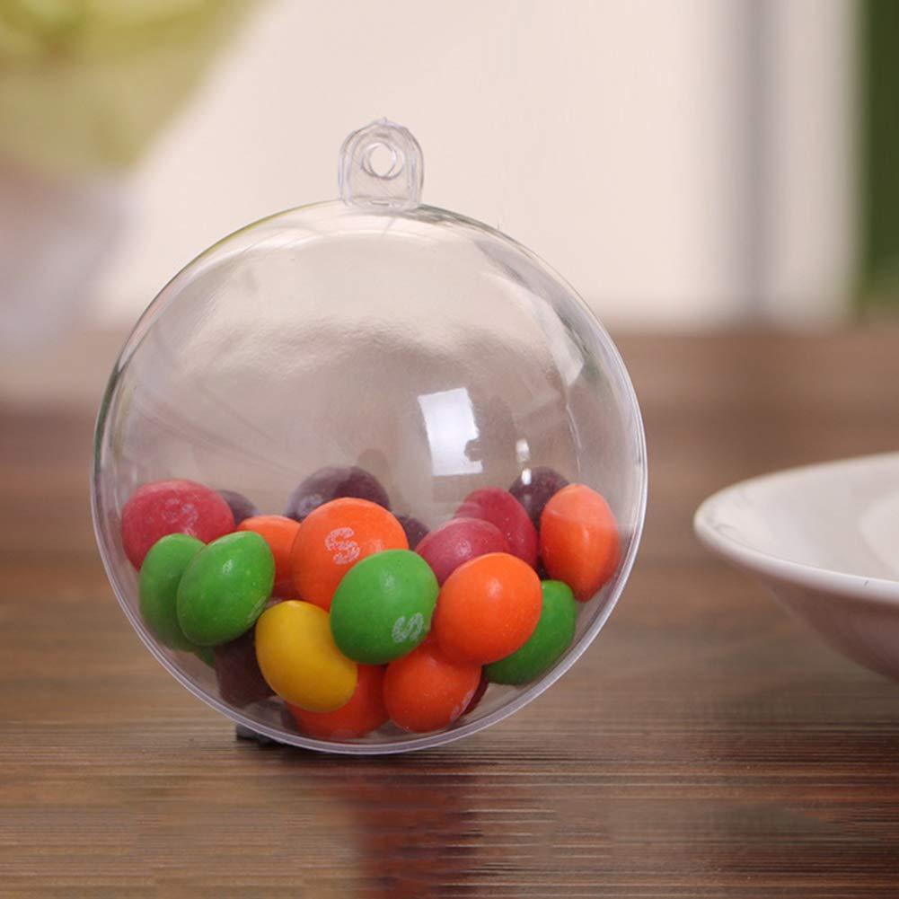 WANGLAI Ornement de Boule /à Remplir en Plastique Transparent Lot de 5/pi/èces d/écoration de No/ël pour Noces danniversaire