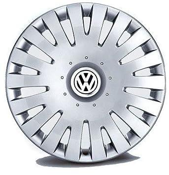 Original Volkswagen Piezas VW Juego De Tapacubos 16 Pulgadas (Passat 3C, Scirocco, Eos): Amazon.es: Coche y moto