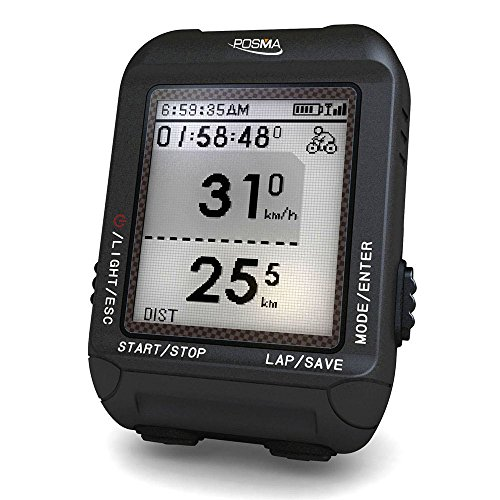 POSMA D3 GPS Cycling Bike Computer Speedometer Odometer with Navigation, ANT+ Support STRAVA and (Polars Series Cadence Sensor)
