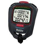 Robic SC-717W 100 Dual Memory Stopwatch, Slate/Red