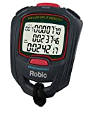 Robic SC-717W 100 Dual Memory Stopwatch, Slate/Red