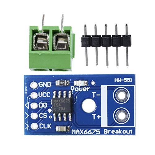 Aideepen MAX6675 Thermocouple Temperature Sensor Module Type K SPI Interface for Arduino