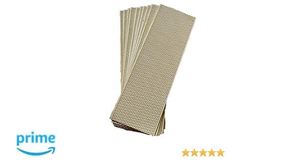 Acorn Bee 10ct Medium black plastic bees wax coated foundation sheet Made in ...