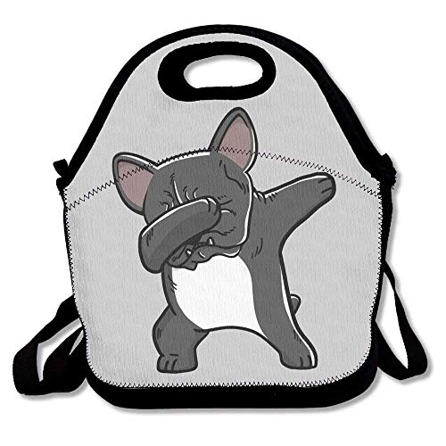 (Funny French Bulldog Lunch Box Bag For Kids And Adult,lunch Tote Lunch Holder With Adjustable Strap Shoulder For Men Women Boys Girls,This Design For Portable)