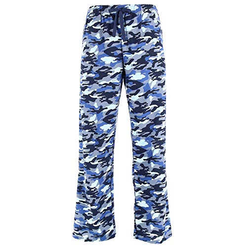 Boxercraft Flannel - boxercraft Men's Camouflage Print Flannel Pajama Pants, XL, Blue