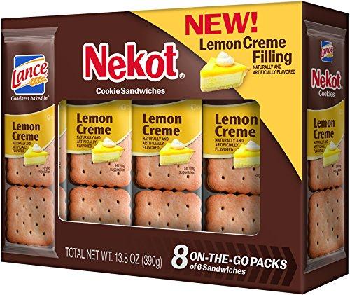 Lance Cookie Sandwiches, Lemon Crème Nekot, 8 Count