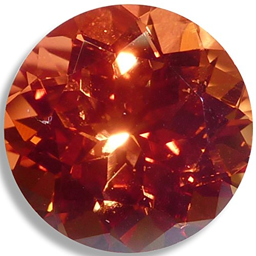Lab Sapphire Orange Round Brilliant Loose Unset Gem (6mm) click for more sizes