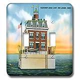 3dRose lsp_169564_2 Southwest Ledge Light, New London, Connecticut Lighthouse Light Switch Cover