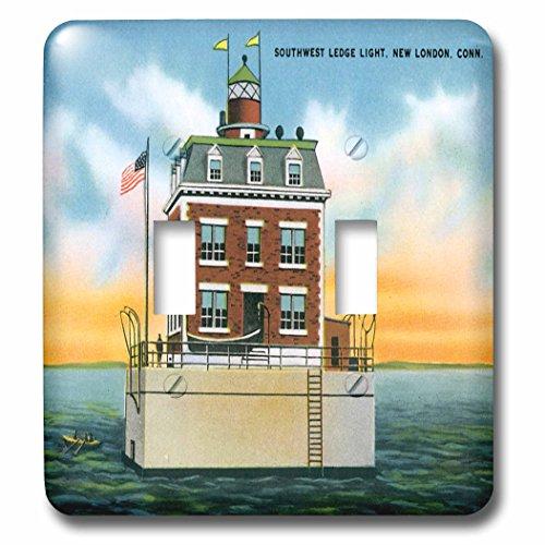 3dRose lsp_169564_2 Southwest Ledge Light, New London, Connecticut Lighthouse Light Switch Cover ()