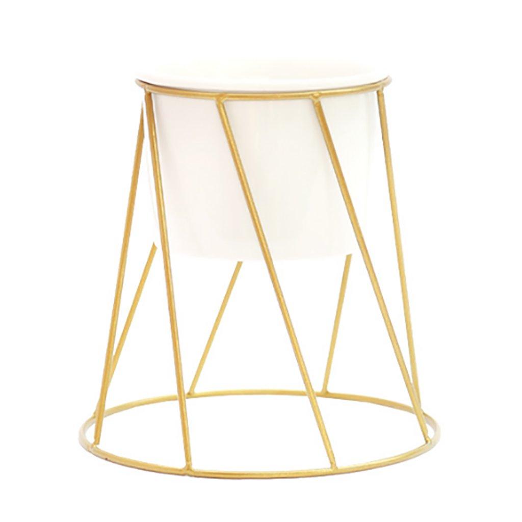JKL-Fiore Stand Espositore per Fiori, espositore da scaffale (colore   oro)