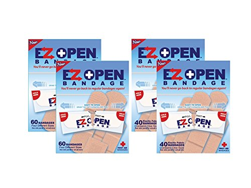 Bandage for arthritis, children, dexteriry and vision issues - EZ Open Bandage, 200 count by EZ Open