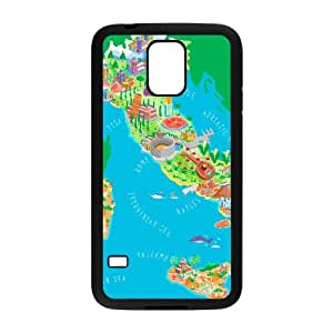 Samsung Galaxy S5 Cell Phone Case Black Italy Map I8240570