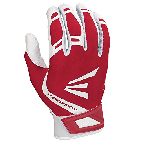 Easton Zf7 VRS Hyperskin Fastpitch Batting Gloves, White/Red, - Softball Glove Fastpitch Batting