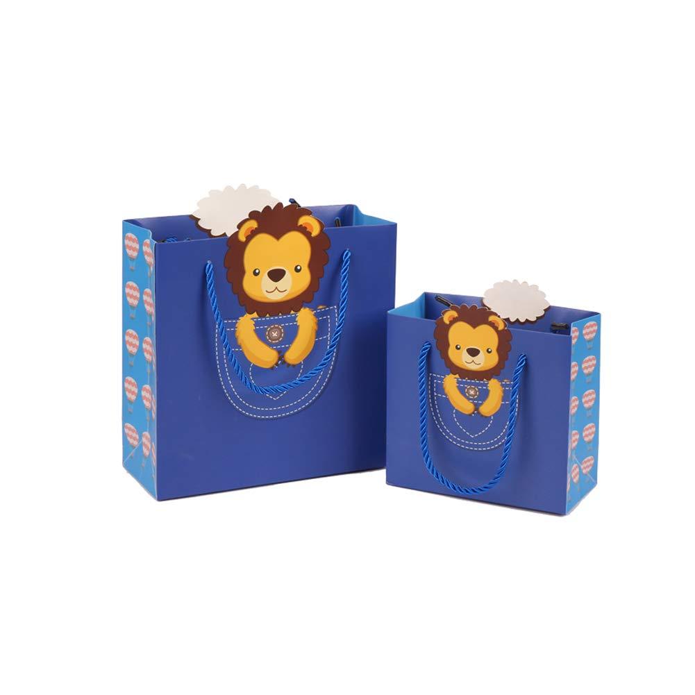 Ruiting Sacchetto di Carta Regalo con la Maniglia S Size 4pcs Carrier Bag Carta per la Festa del Modello Animale di Carta Treat Bag