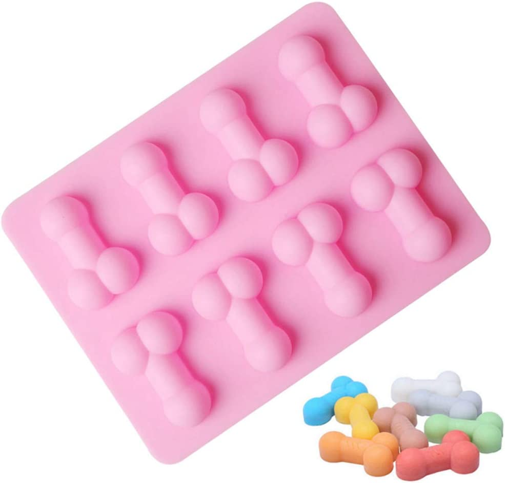 Silicone Cake Mold Funny Baking Pan Decorating Baking Chocolate Fondant Mould Ice Cube Trays for Birthday Single Party