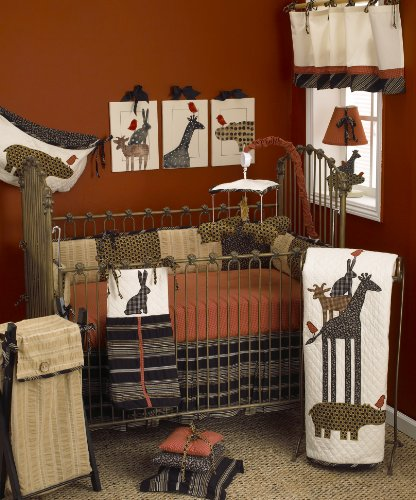 - Cotton Tale Designs Animal Stacker 7 Piece Nursery Pack, Red