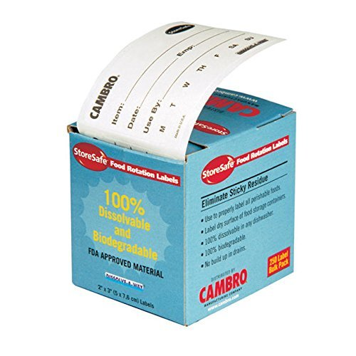 cambro manufacturing 23slb250 storesafe labels food rotation 250 count (1 roll)