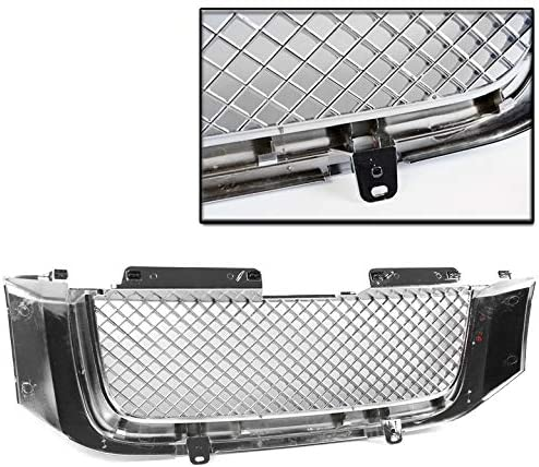 ZMAUTOPARTS For GMC Envoy Mesh Style Front Upper Hood Grille Gloss Black