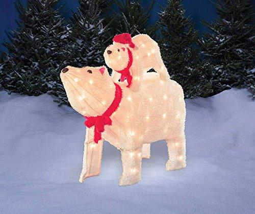 Outdoor Lighted Polar Bear Decorations - 2