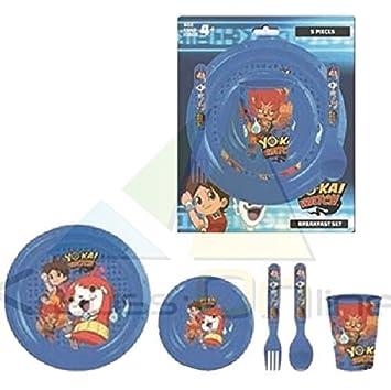 Yo-Kai reloj 4620bl-6667 desayuno/almuerzo/cena Set: Amazon.es: Juguetes y juegos