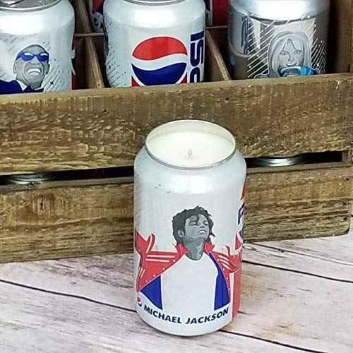 (Michael Jackson 2018 Pepsi Can Soy Candle with Custom Scent - Music Generations Series)