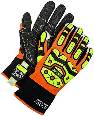 Bob Dale Gloves 20111940XL Bdg Impact Performance Glove Cut 5 Palm Hi-Viz Orange,
