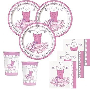3eec31849758 48 Teile Prima Ballerina Party Deko Set für 16 Kinder  Amazon.de ...