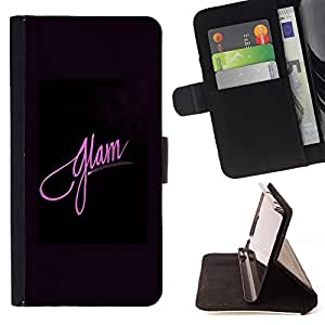 Momo Phone Case / Flip Funda de Cuero Case Cover - Moda rosada púrpura Negro Posters - HTC One Mini 2 M8 MINI