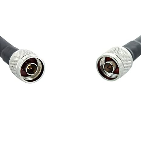 Bolton técnica N-Male a N-Male 75 ft bolton400 negro de baja pérdida Cable Coaxial: Amazon.es: Electrónica