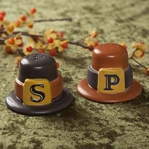 Amazon Com Hallmark Pilgrim Hat Salt And Pepper Shakers