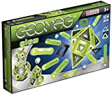 Geomag - GLOW - 104-Piece Glow-in-the-Dark Magnetic Building Set, Certified STEM Construction Toy, Safe for Ages 3 and Up