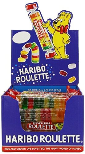 Haribo Roulettes, 7/8 oz. Rolls-SuperPack-72-Count Box