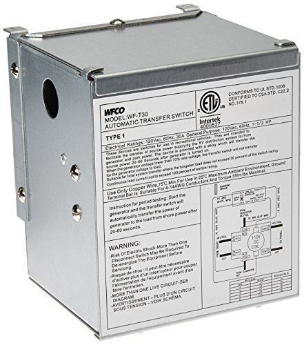 WFCO Electronics T-30 Automatic Transfer Switch 30A by WFCO Electronics (Image #1)