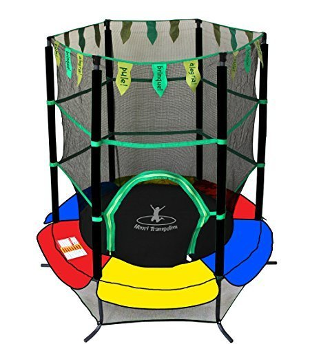 Exacme 0005 New Youth Jumping Round Trampoline Exercise Safety Pad Enclosure Combo Kids, 55
