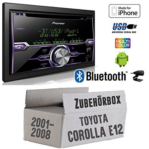 Toyota Corolla E12/120 - Radio Pioneer FH-X720BT USB Bluetooth CD Autoradio Android iPod/iPhone-Direktsteuerung - Einbauset JUST SOUND best choice for caraudio ToCoE122D_FH-X720BT