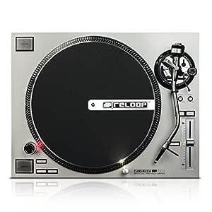Reloop RP-7000 silver Direct drive DJ turntable Plata - Tornamesas para dj (Direct drive DJ turntable, 33 1/3,45,78 RPM, 0,02%, -55 dB, Manual, 0,2 s)