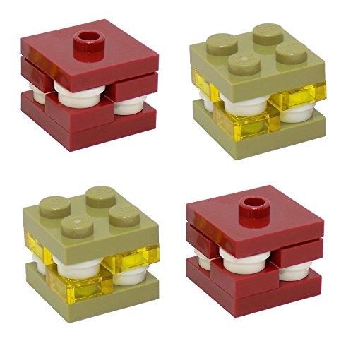 LEGO Minecraft Ore Pack - Cuarzo abisal y Glowstone (Glow-in-The-Dark) x2