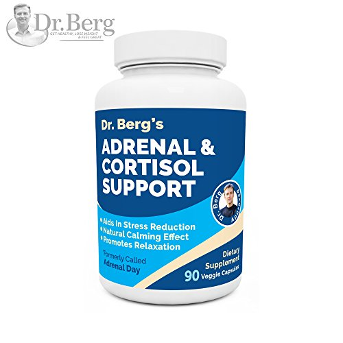 (Dr. Berg's Adrenal & Cortisol Support: Natural Stress & Anxiety Relief for a Better Mood, Focus and Relaxation; Turn Off Your Busy Mind, Vegetarian Ingredients : 90 Capsules (1 Pack))