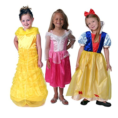 Classic Storybook Princess Dress 3 Pack Set, Size - Hem Petal Silk Dress